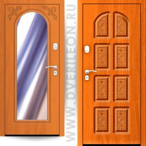 Входная дверь Импера Дворцовая с зеркалом на заказ в СПб Дверилеон