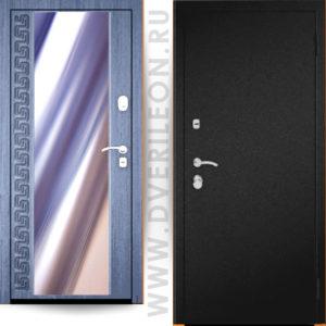 Входная дверь Импера Узор с зеркалом на заказ в СПб Дверилеон