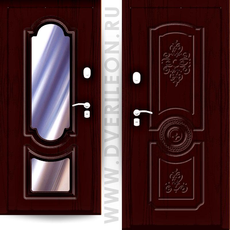 Входная дверь Импера Дворцовая 1 с зеркалом на заказ в СПб Дверилеон
